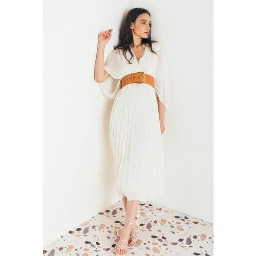 Mona plisirana midi haljina s V izrezom 54113301-1 Slike