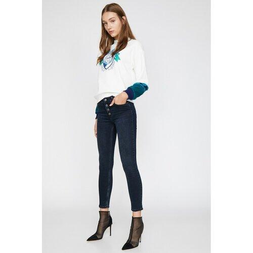 Koton Ženske plave pantalone crne siva  Cene