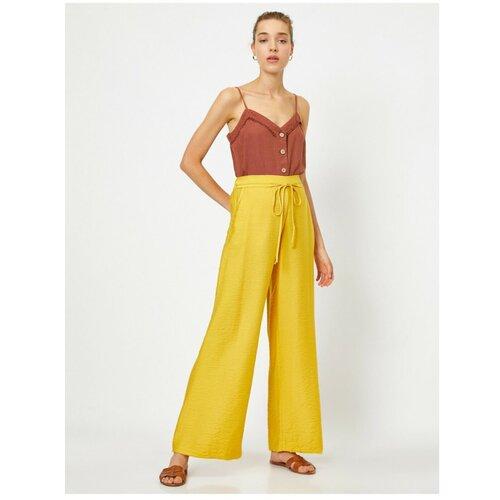 Koton Ženske pantalone sa žutim strukom u struku  Cene