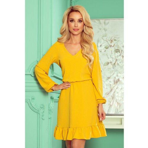 NUMOCO 295-6 BAKARI prozračna haljina s izrezom - MED  Cene
