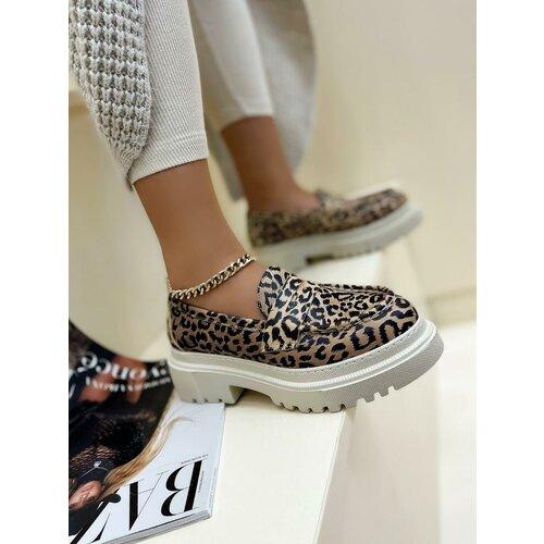 Hop Hop 17704 - kožne cipele meena leopard - bež Slike