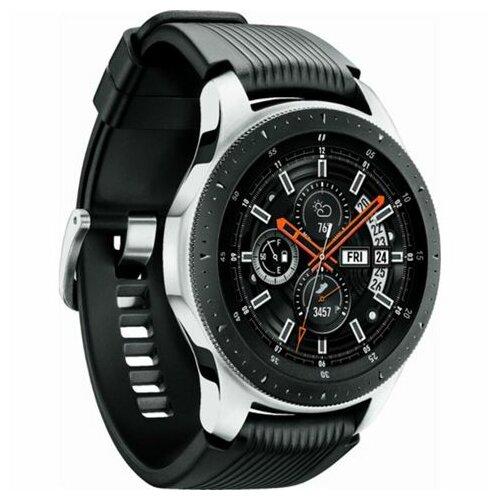 Samsung Galaxy Watch 46mm BT (sm-r800-nzs) pametni sat srebrno crni Slike