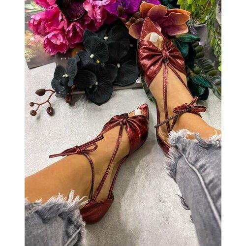 Hop Hop ženske ravne sandale na vezivanje sa otvorenim prstima - crvene  Cene