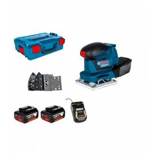 Bosch GSS 18V-10 sa 2 x 5,0 Ah u L-boxxu Akumulatorska vibraciona brusilica-šlajferica Slike
