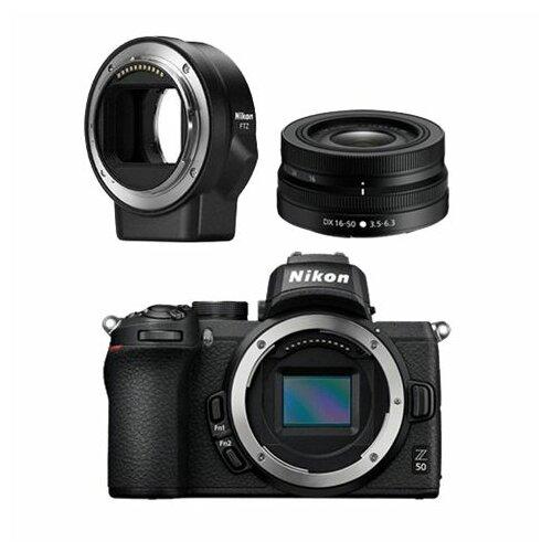 Nikon Z50 + 16-50mm f/4.5-6.3 VR + FTZ adapter digitalni fotoaparat Slike
