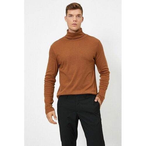 Koton Muška majica s kamenim perjem crna   braon  Cene