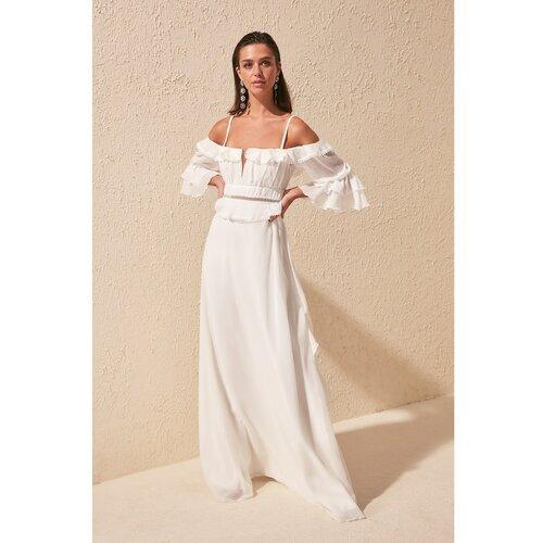 Trendyol Ženska haljina Frill Detaljna bijela | krema  Cene