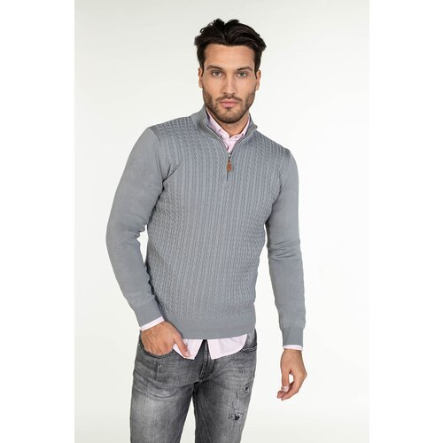 Barbosa muški džemper mdz-8093-54 54 - siva  Cene