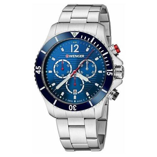 Wenger Sea Force -Blue dial Steel Bracelet Chronograph Dive Men''s Swiss made ručni sat 01.0643.111  Cene
